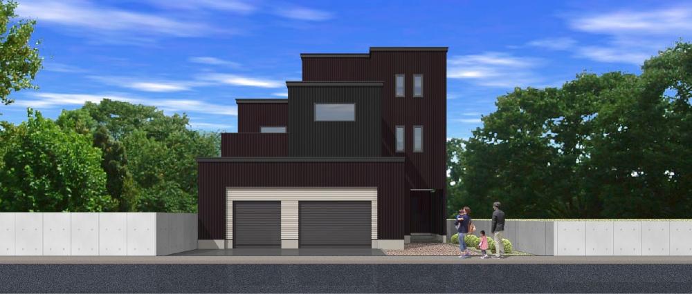 PLAN 13 - 重厚感漂うフォルム、インナーテラスのある3階建て住宅です。 -  -
